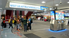McCarran international airport interior in Las Vegas, USA. Stock Footage
