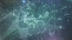 Abstract Geometric Triangles in blue space loop 4K - stock footage