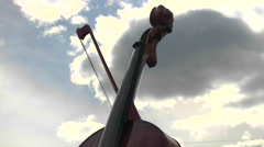 Large Violin - Fiddle Close Up. Stock Footage