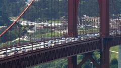 San Francisco Golden Gate Bridge Flowing Traffic Time Lapse Stock Footage
