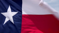 Texas State Flag Background Stock Footage