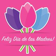 Spanish tulip Mother's Day card in vector format. Stock Illustration