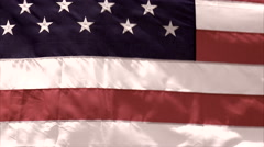 Faded American Flag Background Stock Footage