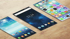 4K - Different Isometric smartphone home screen Stock Footage