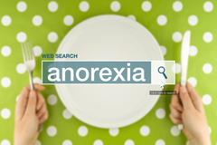 Web search bar glossary term - anorexia Stock Photos
