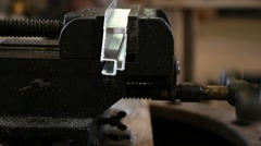 Bench vise tool and stainless Stock Footage