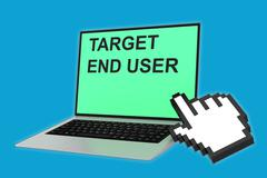 Target End User concept Stock Illustration