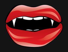 Vampire lips - stock illustration