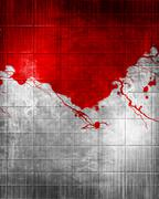 Blood on Grunge background - stock illustration