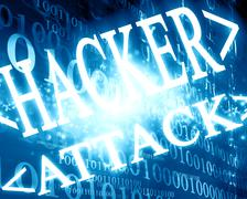 hacker attack - stock illustration