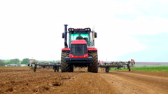 Tractors preparing land for sowing 4K UHD - stock footage