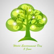 environment day vector - stock illustration