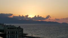 Greece Crete Heraklion at sunset Stock Footage