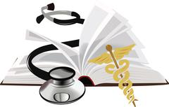 Book study medicine - stock illustration