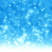 Glittering blue background - stock illustration