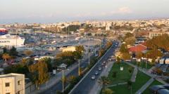 Greece Crete Heraklion city traffic Stock Footage