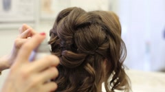 Creating A Beautiful Wedding Hairstyles Stock Footage