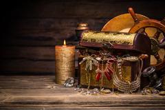 Composition of treasure chest Kuvituskuvat