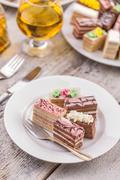 Mini cakes - stock photo