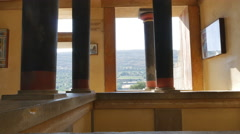 Greece Crete Knossos east hall of palace Stock Footage