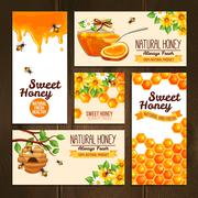 Honey Advertising Banners Stock Illustration