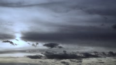 Dark Clouds In The Sky - stock footage