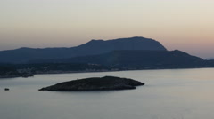 Greece Crete island at dusk Stock Footage