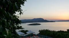 Greece Crete after sunset Stock Footage