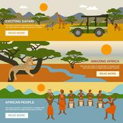 Africa Banners Set - stock illustration