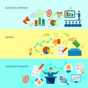 Election Campaign Process Banner Stock Illustration
