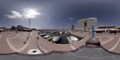 The Herzliya marina and Arena shopping mall 360 video Stock Footage