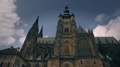 Cathedral of St. Vitus, Wenceslaus and Adalbert. Timelapse Stock Footage