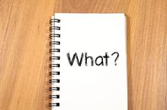 What write on notebook - stock photo