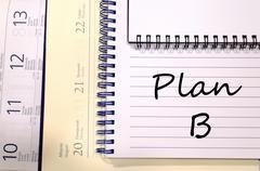 Plan b write on notebook Stock Photos