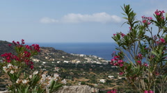 Greece Crete coast far below Stock Footage