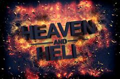 Embers surrounding the word heaven and health Stock Illustration