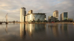 MediaCity UK Day to Night Timelapse Stock Footage