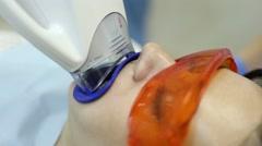 Dental Clinic Teeth Whitening Stock Footage