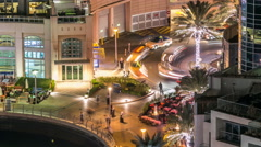 Beautiful aerial top view at night timelapse of Dubai Marina in Dubai, UAE Stock Footage