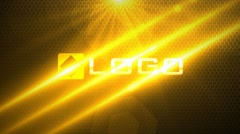 Light Streaks Slice Logo Reveal Animtion Intro - Dynamic Yellow Lights Opener Stock After Effects