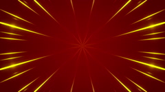 Red abstract background, pulsating gold light, loop Stock Footage