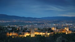 Alhambra palace and fortness complex. Granada, Spain - stock footage