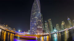 View of Dubai Marina tallest Towers in Duba timelapse hyperlapse - stock footage