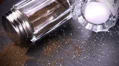 Salt- and Peppershaker (seamless loopable; 4K) Stock Footage