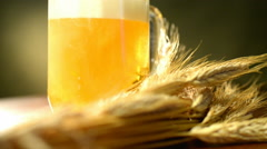 Pouring beer into the glass Stock Footage