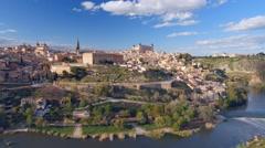 Ancient city Toledo in Castilla la Mancha Stock Footage