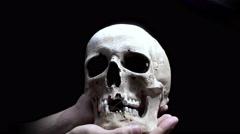 Human skull rotating in 4k Stock Footage