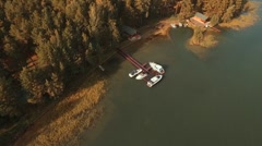 Flying Over The River In A Beautiful Place. (without color correction) Stock Footage