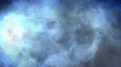 Lightning strikes light up clouds over full moon - stock footage