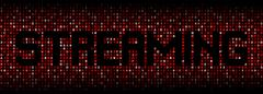 Streaming text on hex code illustration - stock illustration